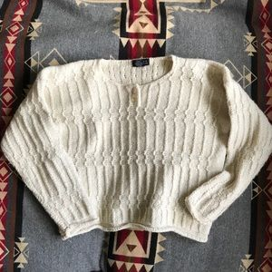 Limited vintage cropped wool blend knit sweater